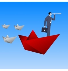 Leading the fleet business concept vector