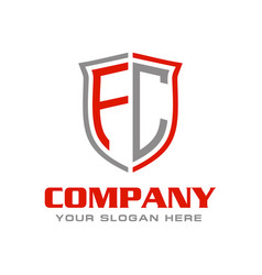 Letter fc logo design vector