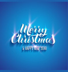 Lettering merry christmas and happy new year vector