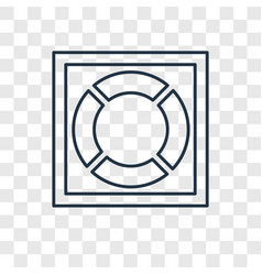 lifesaver concept linear icon isolated on vector image