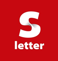 Logo letter S in the form of a white ribbon vector