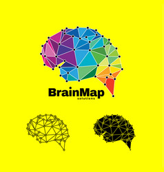 modern colorful brain logo designprint vector image