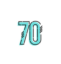 Number 70 template design design for anniversary vector