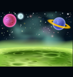 outer space cartoon background vector image
