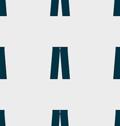 Pants icon sign Seamless pattern with geometric vector