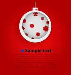 paper christmas toy red background vector image
