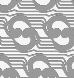 Perforated abstract swirly waves vector image