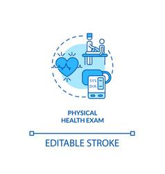 Physical health exam concept icon vector