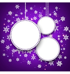 Purple winter background with snowflakes vector image
