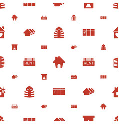 Real icons pattern seamless white background vector