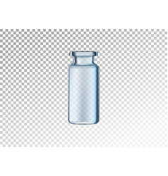 realistic glass bottle vector image