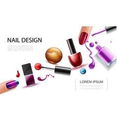 Realistic nail polish concept vector