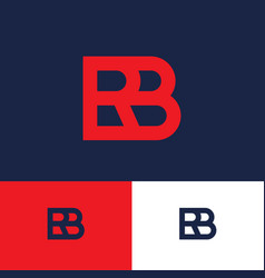 Red b and r monogram logo concept vector