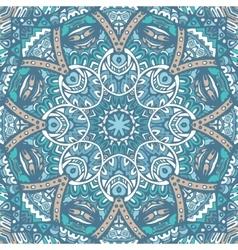 Seamless ornamental pattern of circular ornaments vector image