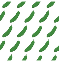 Seamless pattern with green cucumbers vector image