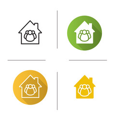 Shared ownership icon vector