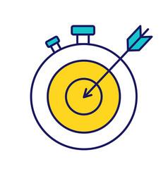 Smart goal color icon vector