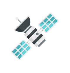 Space satellite icon flat style vector