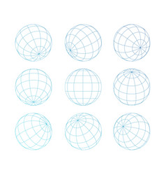 Sphere globe with grid vector