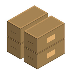 stack of boxes icon isometric style vector image