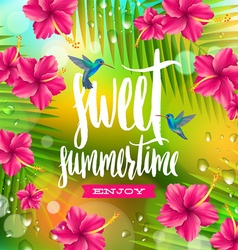 Sweet summertime vector image