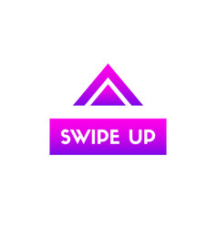 Swipe up button for social media vector