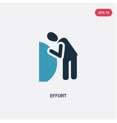 two color effort icon from people concept vector image
