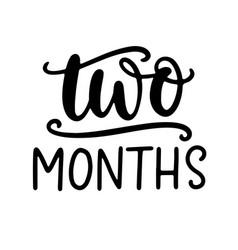 Two months baby shower newborn age marker vector