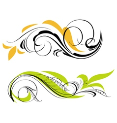 Two ornaments vector image