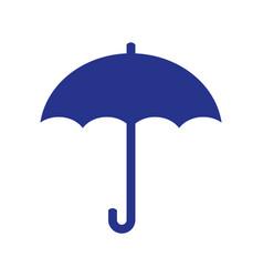 umbrella icon flat design vector image