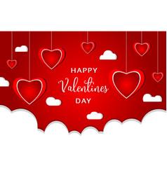 Valentines day modern background design vector