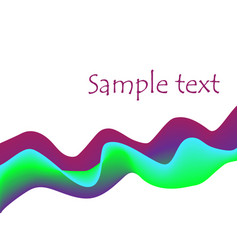 violet purple green blue 3d curves abstract vector image