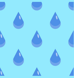 water drops seamless pattern on blue background vector image
