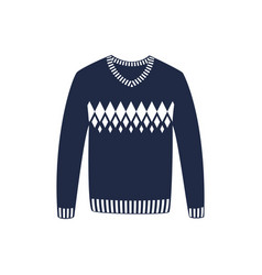 Winter sweater isolated icon vector