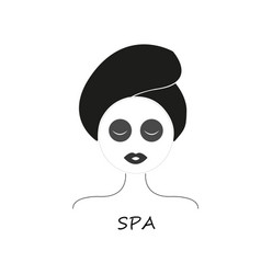 women in spa salon vector image
