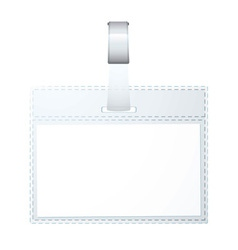 clear plastic business name tag vector image vector image
