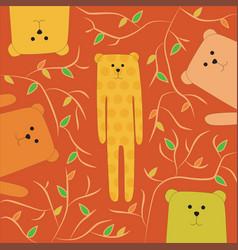 funny of happy bear vector image