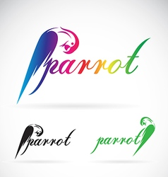 image of a parrot design on white background vector image vector image