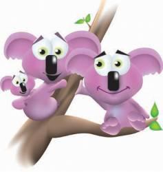 koala family portrait vector image vector image