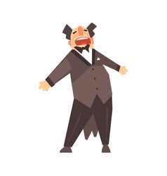 male opera singer character cartoon vector image