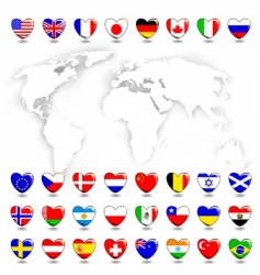 map ans flags vector image