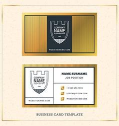 Modern creative golden business card template vector