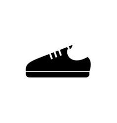 sneaker shoe icon black sign vector image vector image
