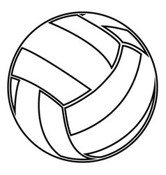 volleyball ball black color icon vector image vector image