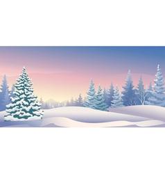 Winter sunrise panoramic vector