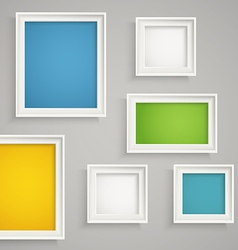 Abstract background of color boxes vector image vector image