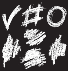 chalkshapes2 vector image