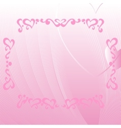 Romantic pink background with ornate elements vector image vector image