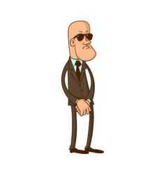security guard in black glasses vector image vector image