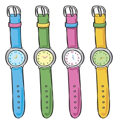 Wrist Watches vector image vector image